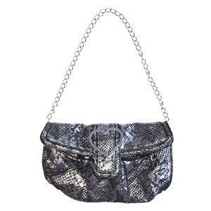 BETSY JOHNSON FAUX SNAKES SKIN PURSE CLUTCH BAG